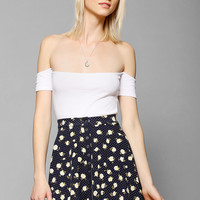 Kimchi Blue Knit Allover Print Snap-Front Circle Skirt - Urban Outfitters