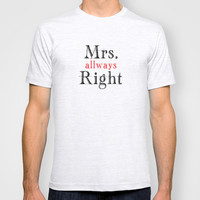 Mrs. Right T-shirt by Steffi by findsFUNDSTUECKE