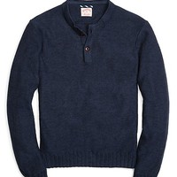 Marled Henley Sweater - Brooks Brothers