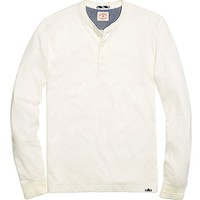 Men's Long-Sleeve Solid Henley Shirt