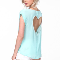 HEART CUT OUT BLOUSE