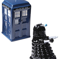 Tardis & Dalek Salt & Pepper Shakers