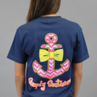 Simply Southern Tee - Navy Anchor