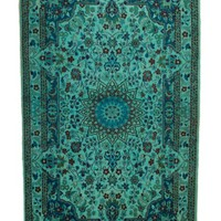 Overdyed Persian Nain Vintage Rug Teal 4 Ft. 1 In. x 6 Ft. 7 In. - West Of Hudson - Unique Rug Collection