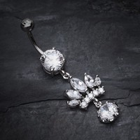 Crown Gem Dazzle Belly Ring