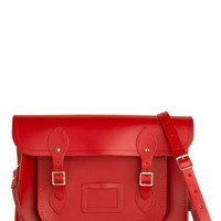The Cambridge Satchel Company Luxe, Urban, Scholastic Cambridge Satchel Upwardly Mobile Satchel in Red - 14 inch