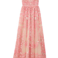 Poudre Tulle Illusione Gown by Valentino Now Available on Moda Operandi