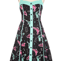 Retro Rayguns Halter Dress - PLASTICLAND