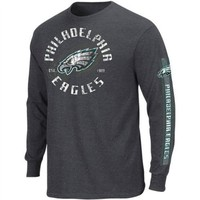 Philadelphia Eagles Charcoal Gridiron Tough III Long Sleeve Shirt