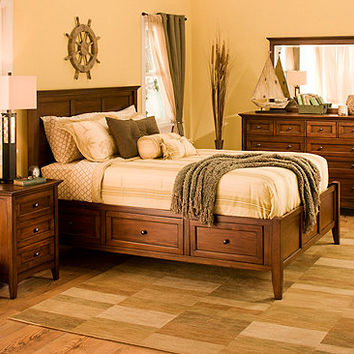 bedroom furniture sets beds mirrors desks dressers. westlake 4 pc ...