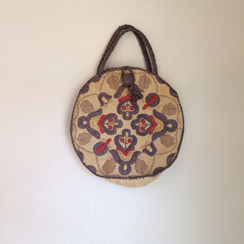 Woven Wicker Boho Bag