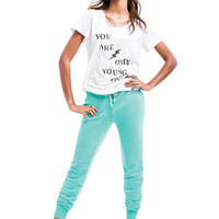 Yoke-back Terry Pant - Victoria's Secret