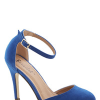Dinner and Dancing Heel in Blue | Mod Retro Vintage Heels | ModCloth.com
