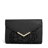 ASOS Floral Laser Cut Clutch Bag