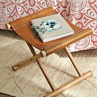 Cooper Leather Stool | Serena & Lily
