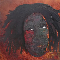 Study  Naive Outsider Art Painting of Black Man by BrianMossArt