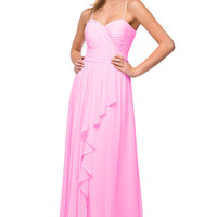 Rent Layered Chiffon Bridesmaid Dress in Pink| Rent The Dress