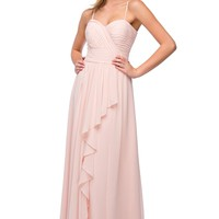Rent Layered Chiffon Bridesmaid Dress in Blush| Rent The Dress