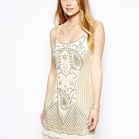 Jaded Rose Cami Dress With Deco Embellishment