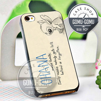 Lilo and stitch - iPhone 4/4s/5/5S/5C Case - Samsung Galaxy S2/S3/S4 Case - Black or White