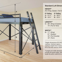 Adult Loft Beds | Francis Lofts & Bunks