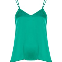 Green V neck cami top