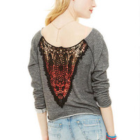 Crochet Back Sweatshirt