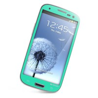Caseology Slim Fit Flexible TPU Case and Color Screen Protector Combo Compatible With Samsung Galaxy S3 [Revised Version] (Turquoise / Mint)