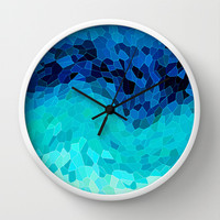 INVITE TO BLUE Wall Clock by catspaws