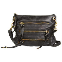 Three Zipper Crossbody