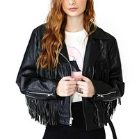 Renegade Leather Fringe Jacket