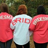 Bridesmaid's Spirit Football Jersey with Circle Monogram