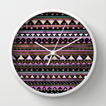 ETHNIC TRIBAL Wall Clock by Nika