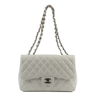 Chanel White Medium Double Sided Flap