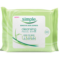 Walmart: Simple Cleansing Facial Wipes, 25ct