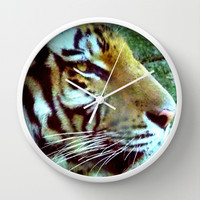 Tiger's View  Wall Clock by Oksana's Art