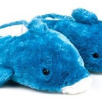 Wishpets Adults Medium Blue Dolphin Slippers