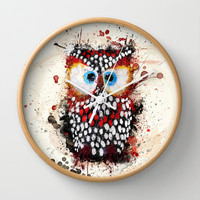 The Owl Wall Clock by Msimioni