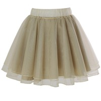 Organza Tulle Skirt in Apricot