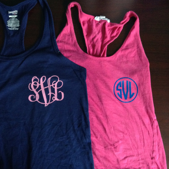 Iron-on Monogram or Greek Letters for from SunshineVinyl on