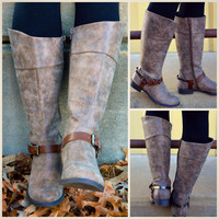 Rowdy Ranch Taupe Riding Boot