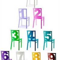 Colorful 'Number Chair' | ALL ABOUT HOME DESIGN & PHOTOS