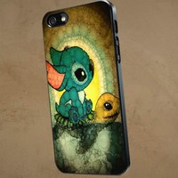 Stitch and Turtle Cute - NRT - iPhone 5 case Black/White Case