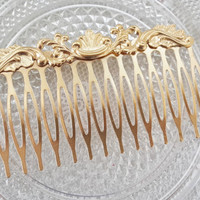 Gold Hair Comb - Bridal Hair Accessories - Wedding Hair Jewelry - Wedding Head Piece - Leaf Hair Comb - Leaves Hair Comb - Floral Hair Comb