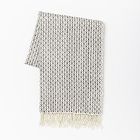 Hand-Loomed Silk Throw – Diamond Check