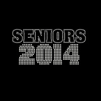 Rhinestone Transfer Seniors 2014 Graduation Iron On Bling 34151