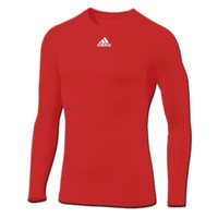 adidas Team TECHFIT Compression L-S Top (Red)