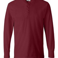 J.America 8244 Vintage Brushed Jersey Henley
