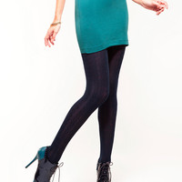 HUE Cable Sweater Tights Hosiery 13989 at BareNecessities.com