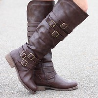 Madison Chocolate Knee-High Boots